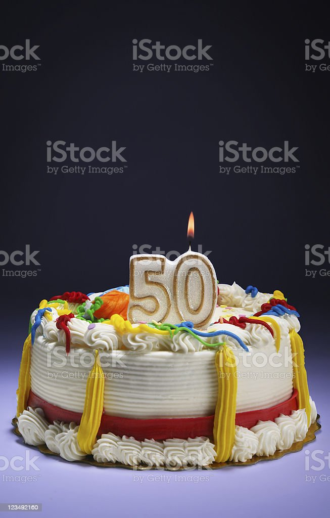 50th Anniversary or Birthday royalty-free stock photo