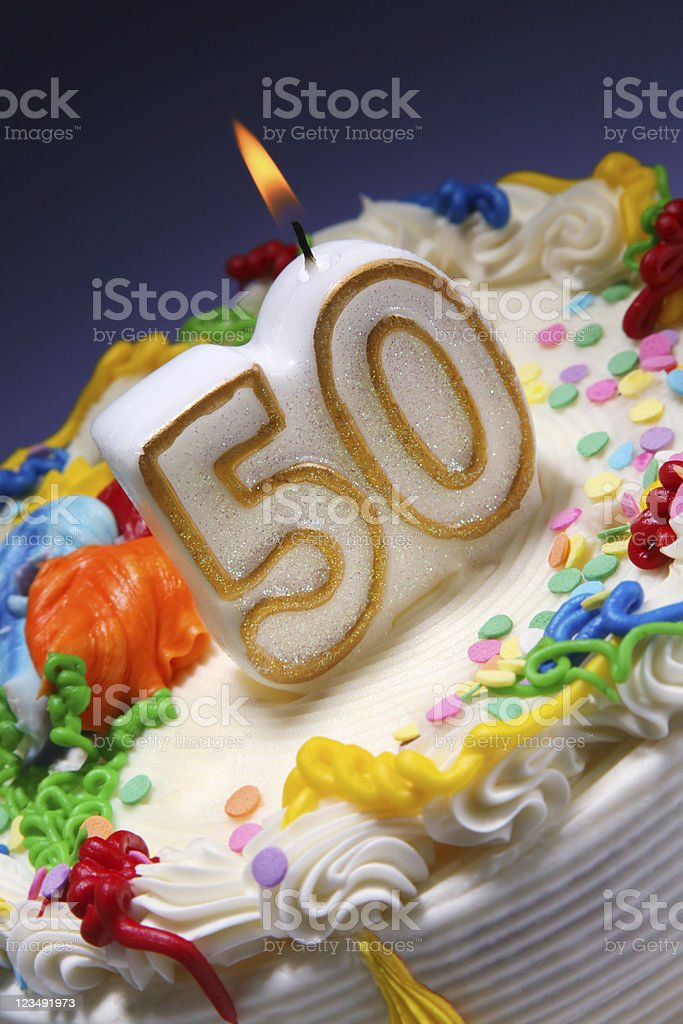 50th anniversary royalty-free stock photo