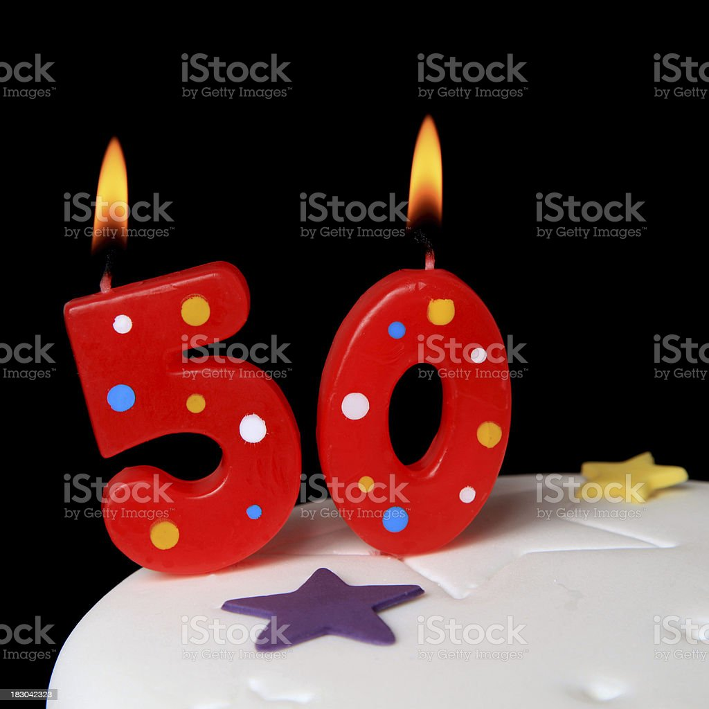 50th Birthday candles royalty-free stock photo