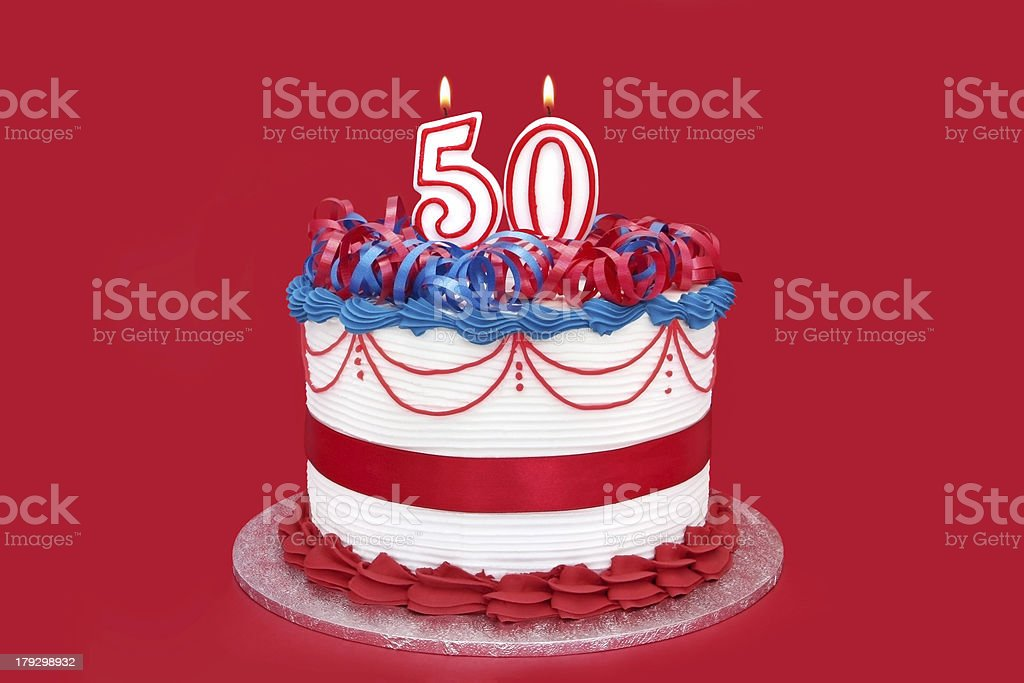 50th Cake stock photo