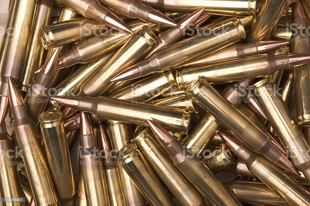 5.56mm NATO Ammunition royalty-free stock photo
