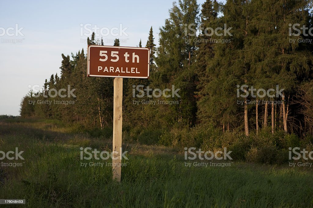 55th Parallel North Manitoba royalty-free stock photo