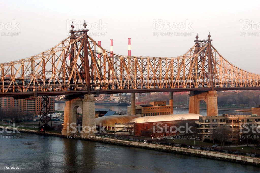 59th St Bridge royalty-free stock photo