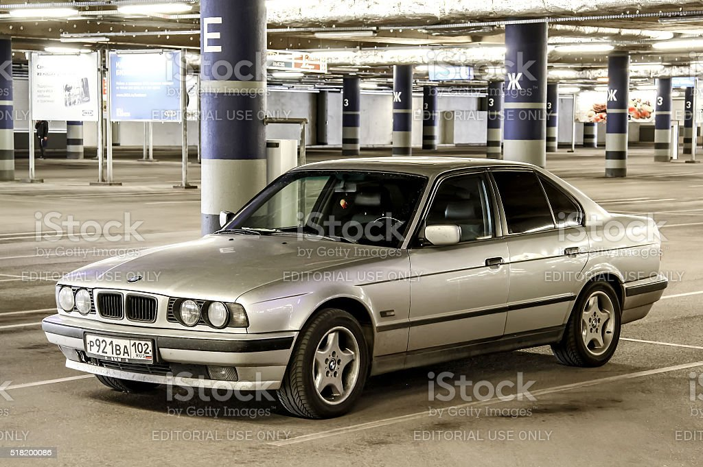 BMW E34 5-series stock photo