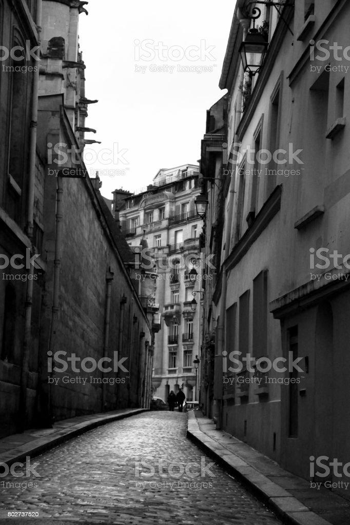 5th Arrondissement BW stock photo