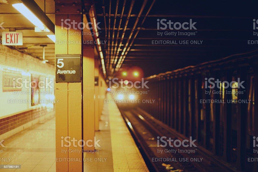 5th Ave Subway station stock photo
