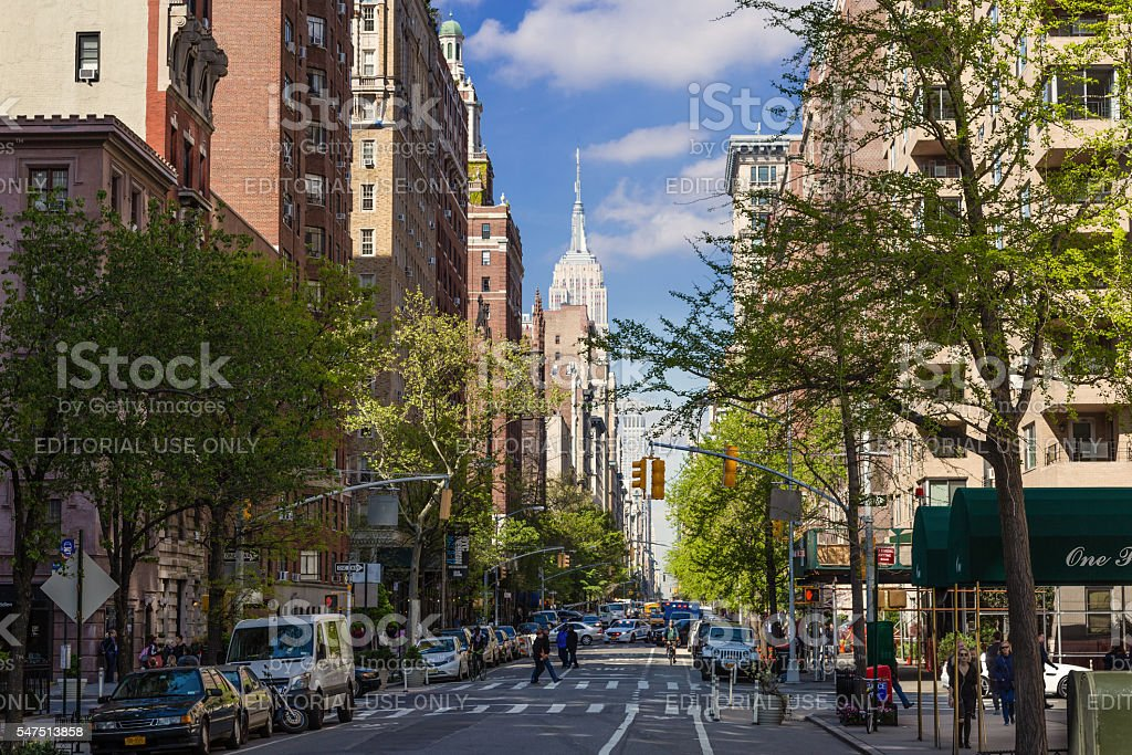 5th Avenue and Empire State Building, Manhattan, New York. stock photo