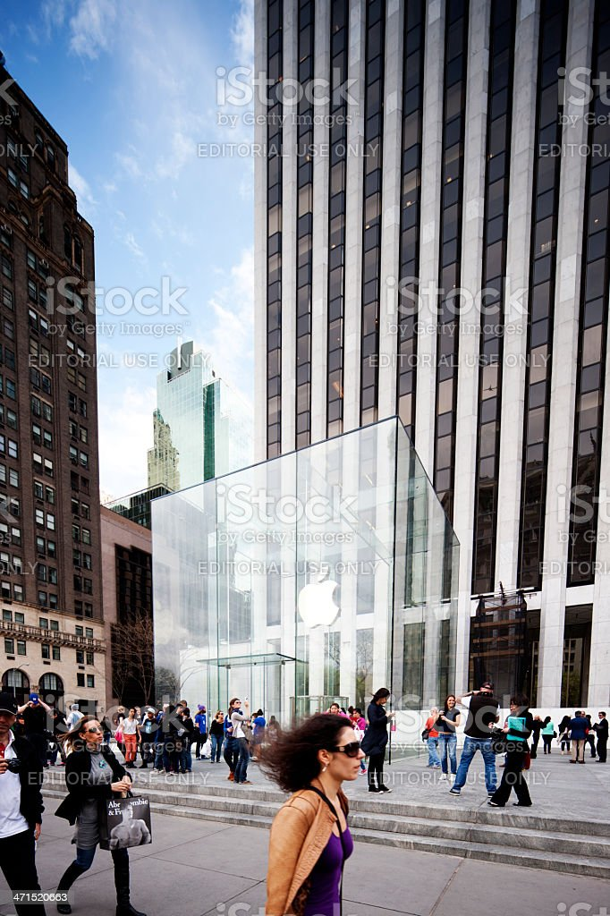 5th Avenue Apple Store, New York royalty-free stock photo