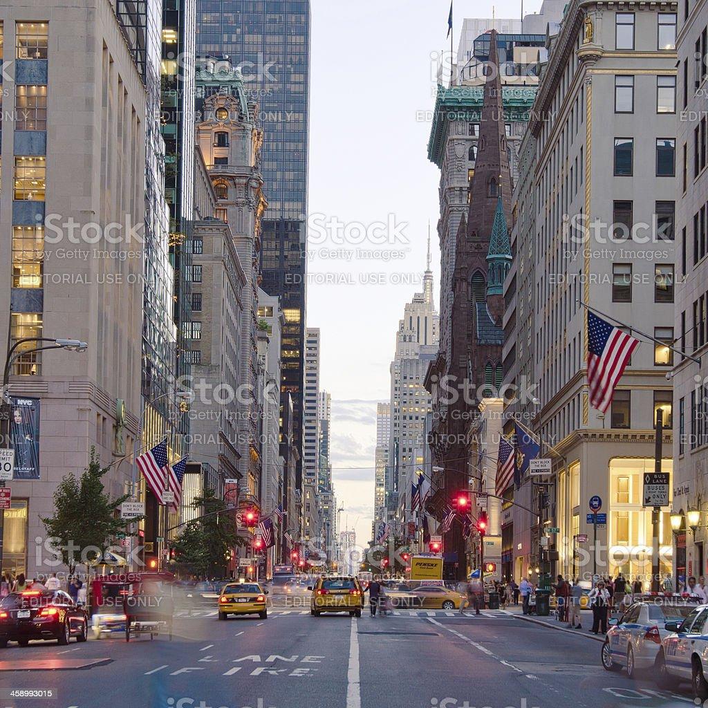 5th Avenue in New York City stock photo