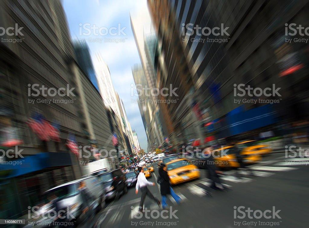 5th avenue, Manhattan, New York royalty-free stock photo