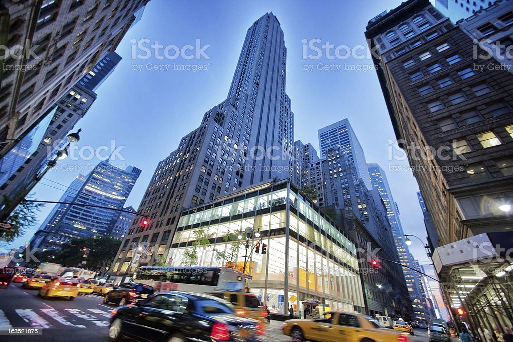 5th Avenue Traffic, Evening, New York, USA stock photo