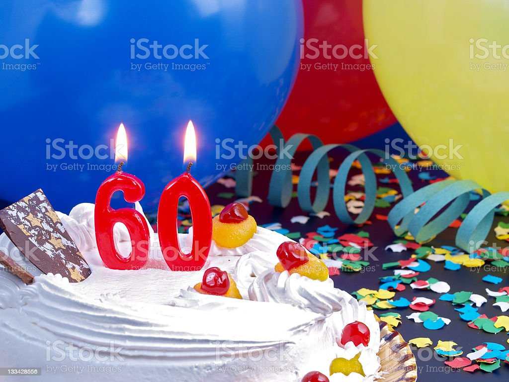 60th. Anniversary stock photo