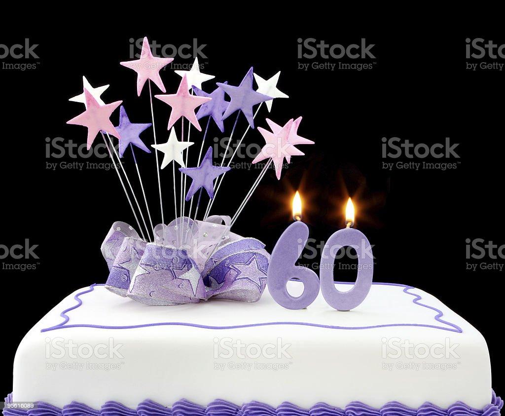 60th Cake stock photo