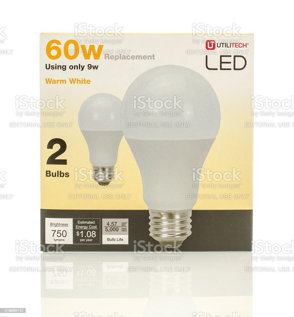 60w LED lightbulbs stock photo