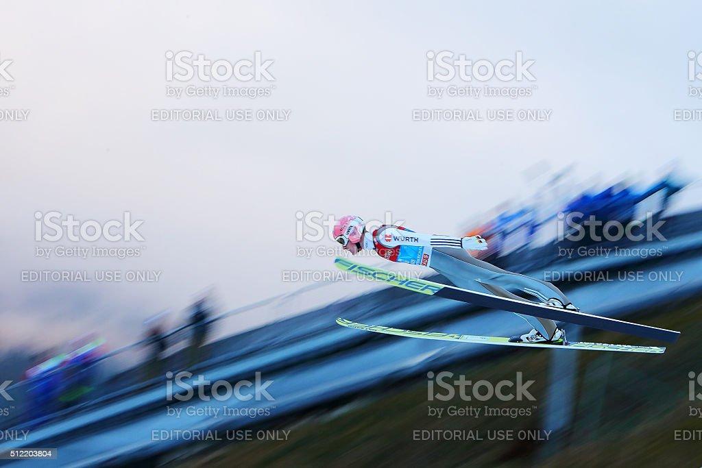 '64th FOUR HILLS TOURNAMENT SKY JUMPING IN GARMISCH-PATENKIRCHEN' stock photo