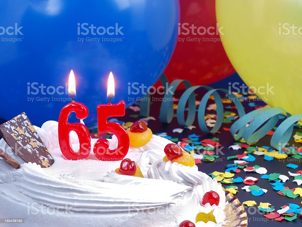65th. Anniversary royalty-free stock photo