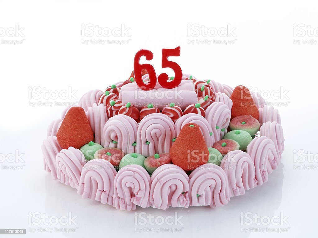 65th. Anniversary - Retirement royalty-free stock photo