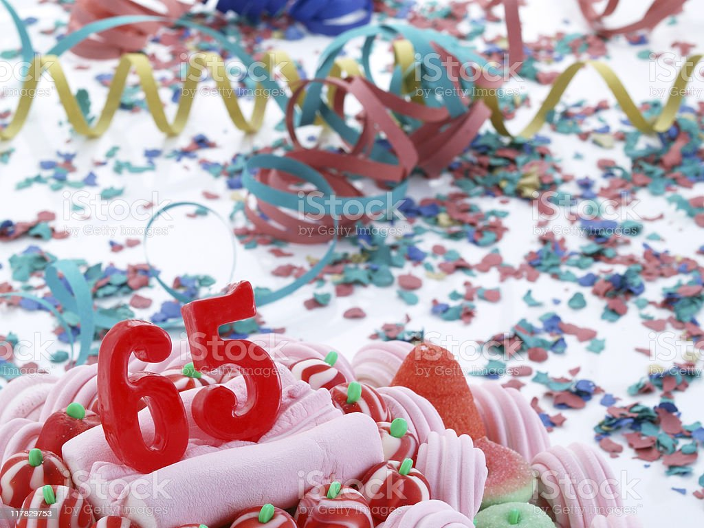 65th. Anniversary - Retirement royalty-free stock photo