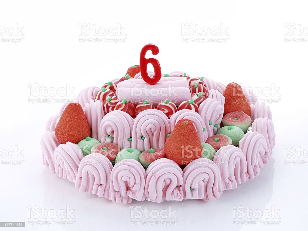 6th. Anniversary royalty-free stock photo