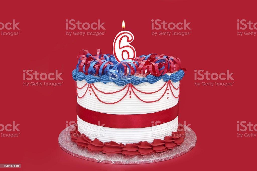 6th Cake royalty-free stock photo