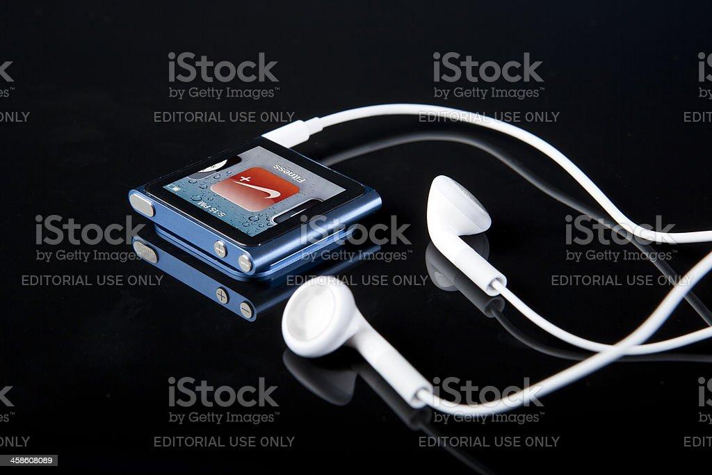 6th Generation Apple iPod Nano with Nike Fitness Program royalty-free stock photo