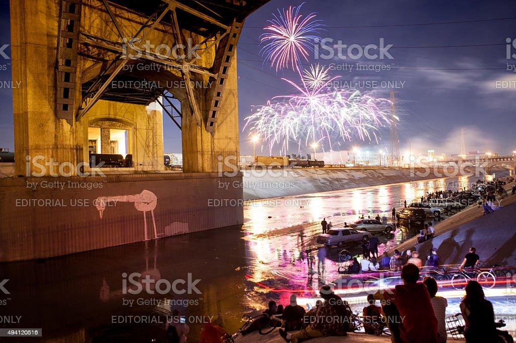 6th Street Bridge Farewall Festival royalty-free stock photo