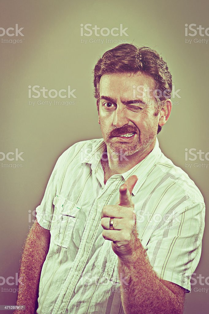 70s Cool Dude royalty-free stock photo