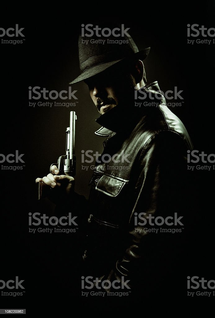 70s gangster stock photo