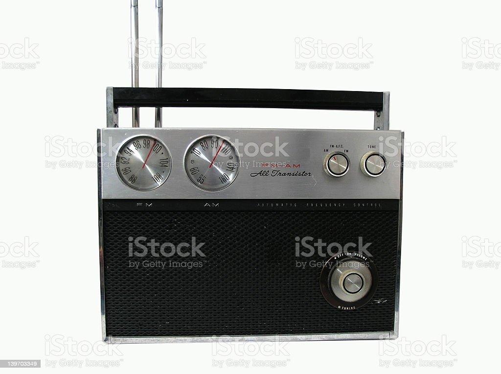70s radio royalty-free stock photo