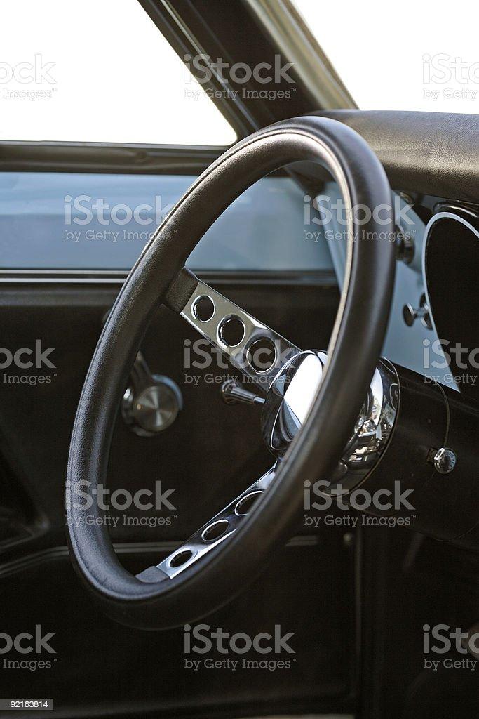 70s Steering Wheel stock photo