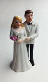 70s wedding cake topper