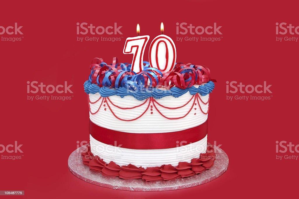 70th Cake royalty-free stock photo