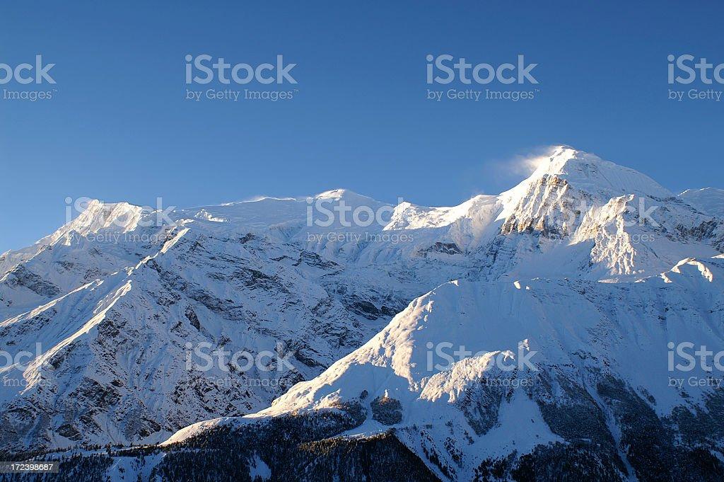 7454m, White Himalaya Gangapurna, Nepal royalty-free stock photo