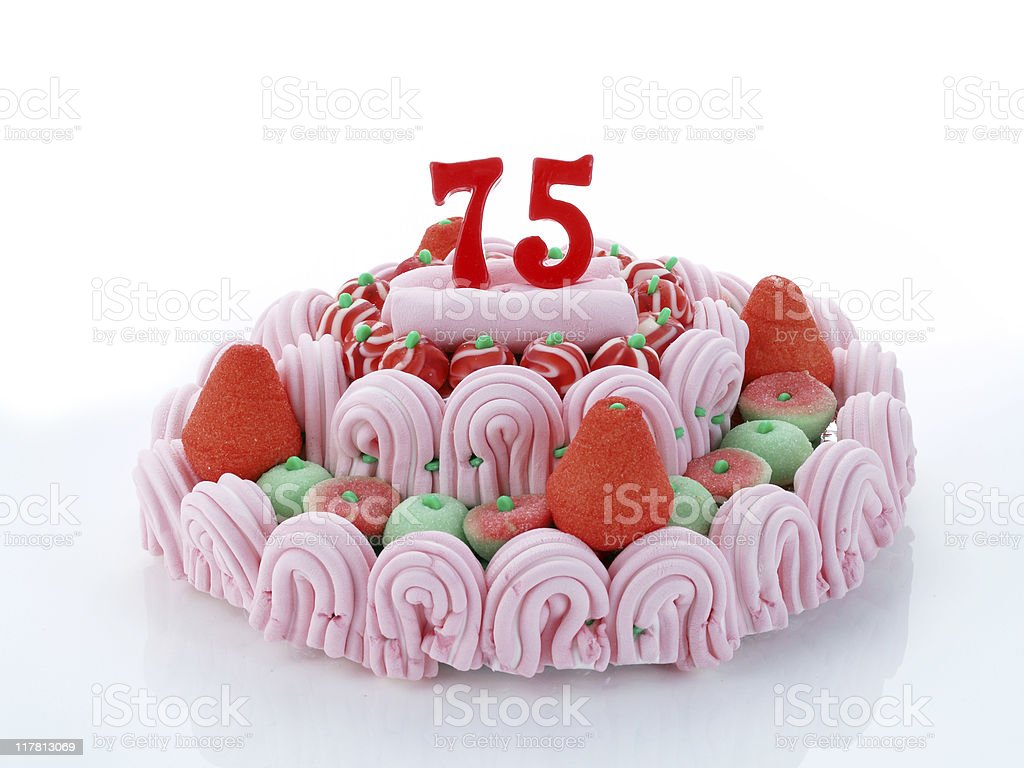 75th. Anniversary royalty-free stock photo