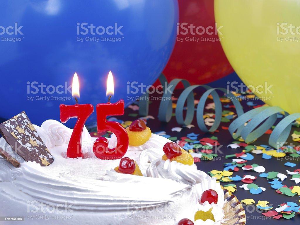 75th. Anniversary stock photo