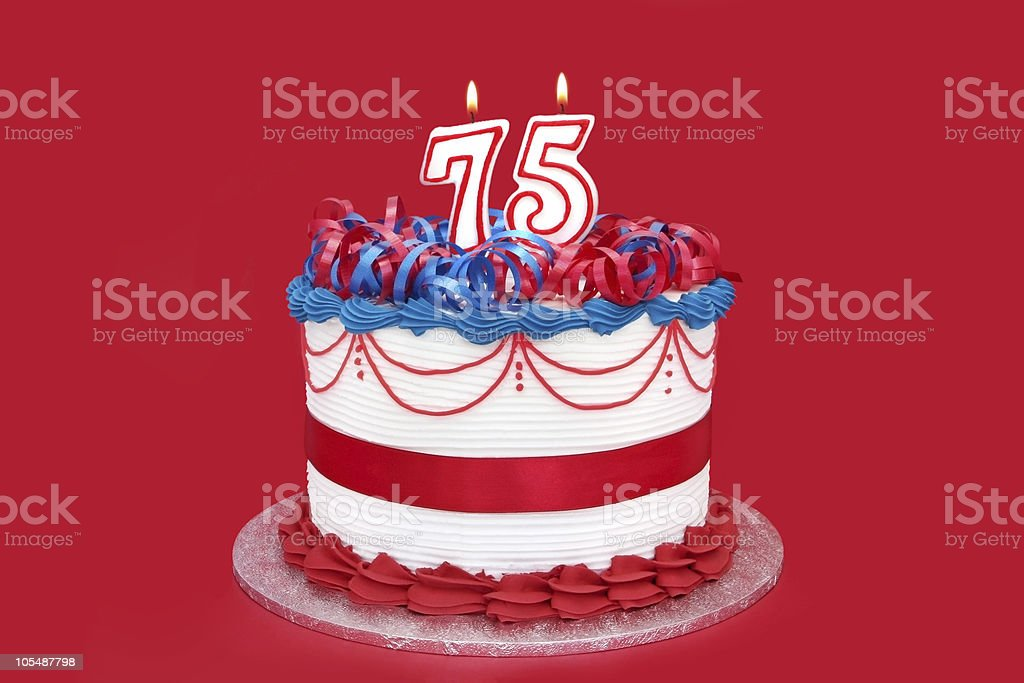 75th Cake stock photo