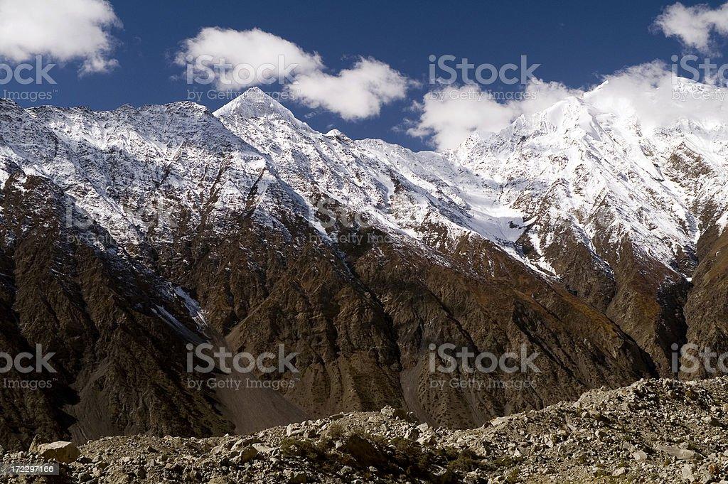 7611m Shispare Sar Karakoram, Pakistan. stock photo