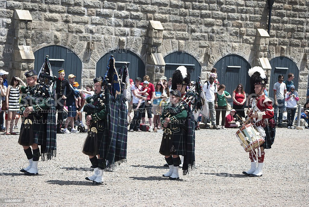 78th Highlanders Take Part in Canada Day Celebrations royalty-free stock photo