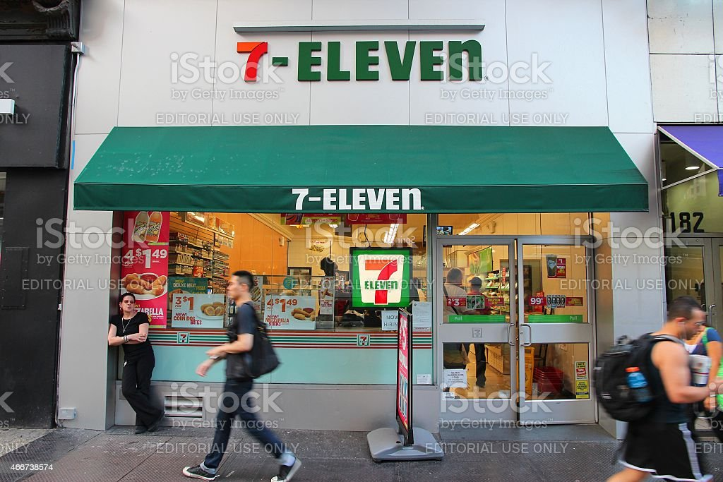 7-Eleven New York stock photo