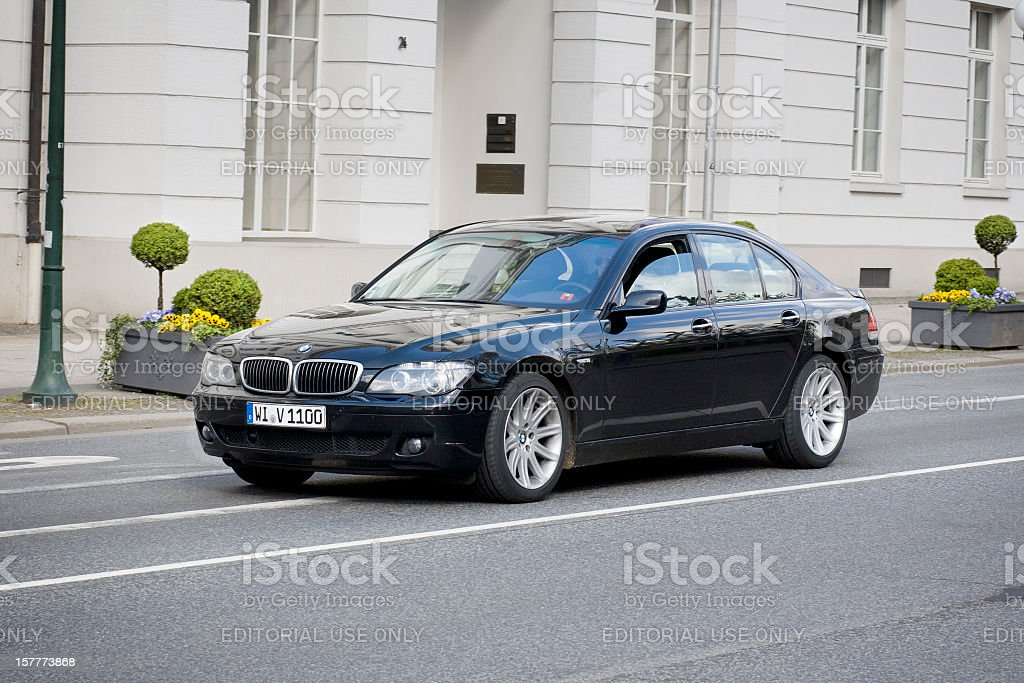 BMW 7-Series (E65) royalty-free stock photo