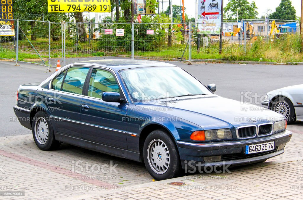 BMW E38 7-series stock photo