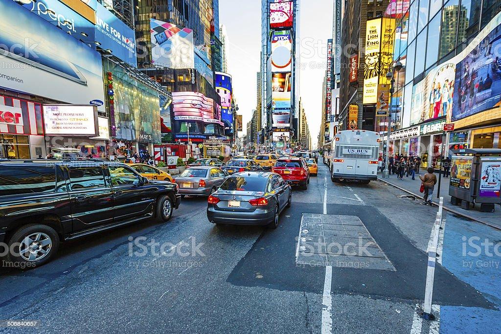 7th Avenue near Times Square in New York City, USA stock photo