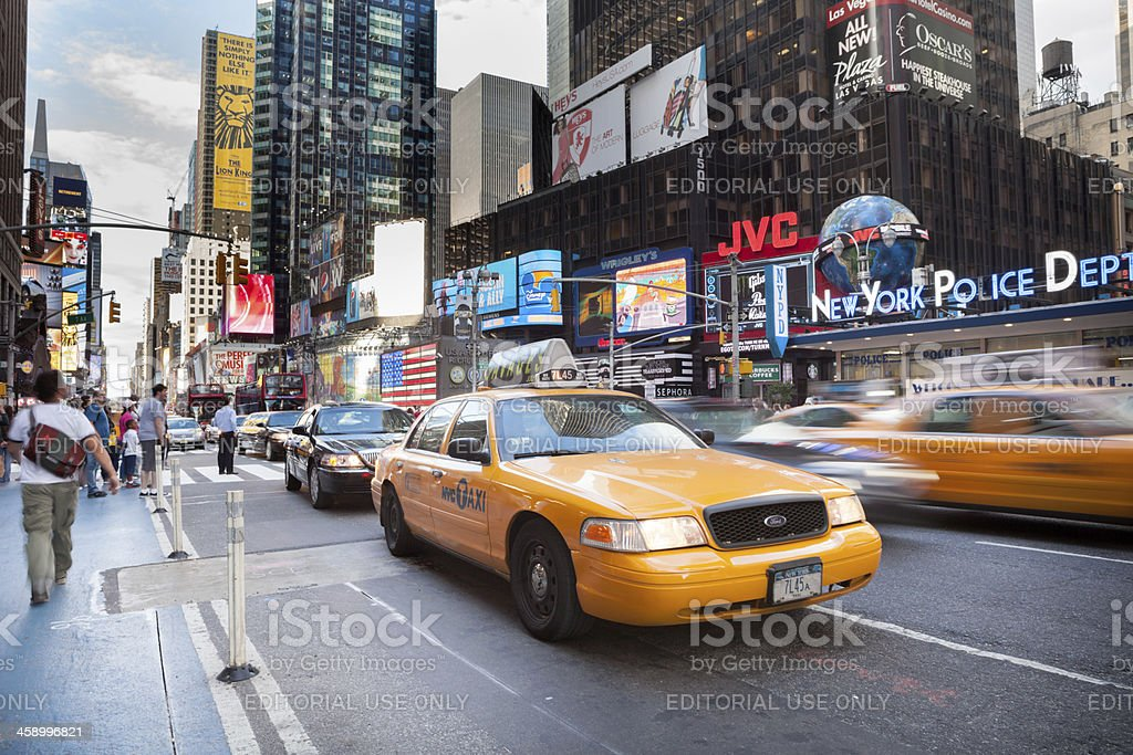 7th Avenue NYC royalty-free stock photo