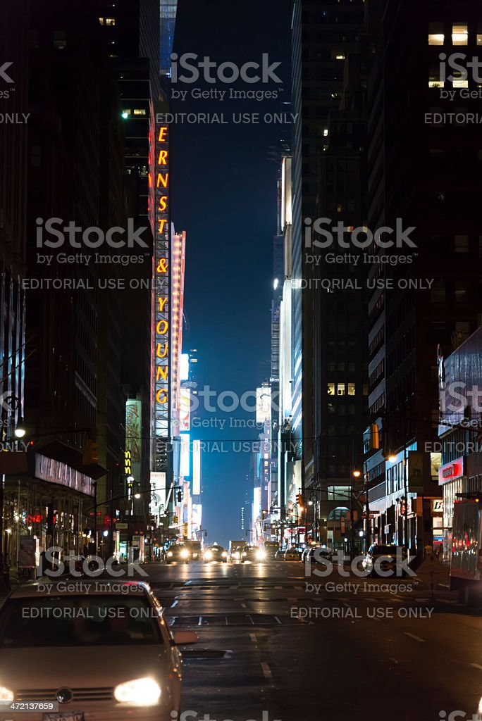 7th avenue royalty-free stock photo