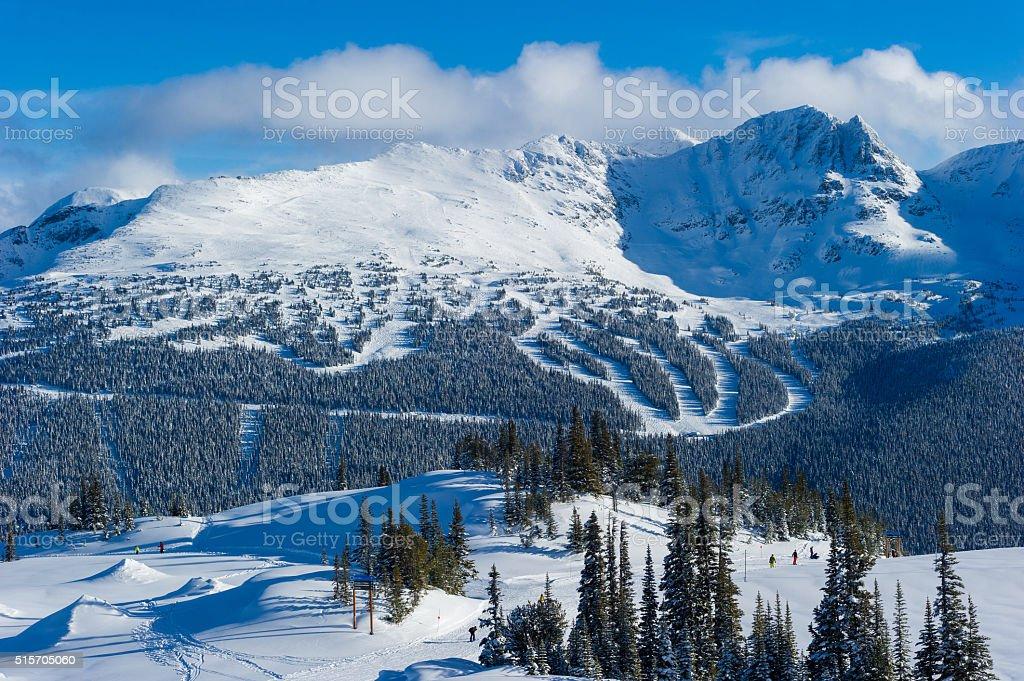 7th Heaven on Blackcomb Mountain stock photo