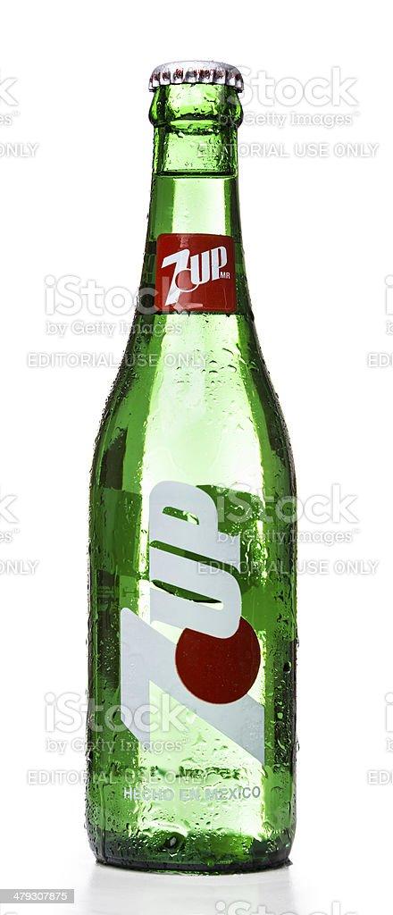 7up soda bottle stock photo