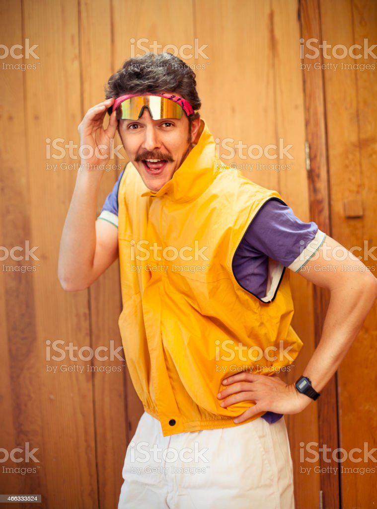 80s man portrait stock photo