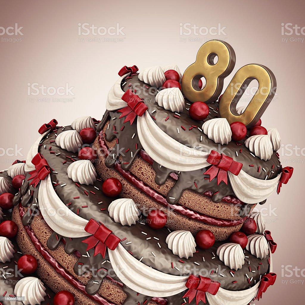 80th birthday/anniversary stock photo