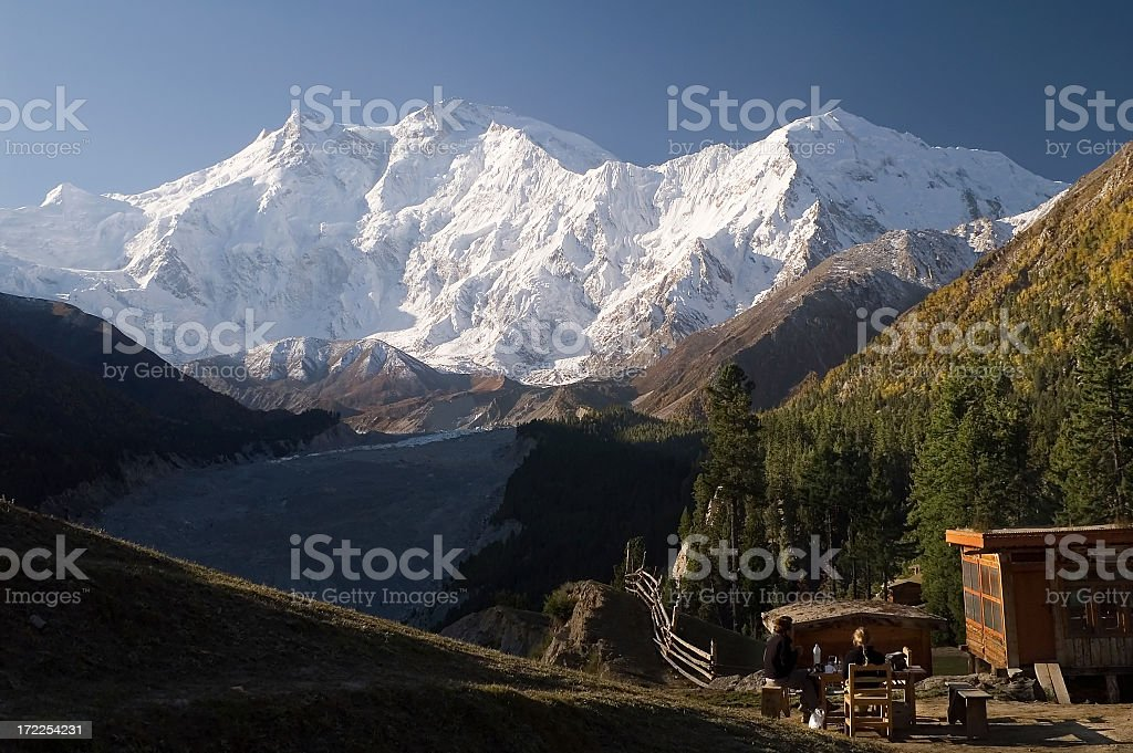 8125m Nanga Parbat Karakoram, Pakistan. stock photo