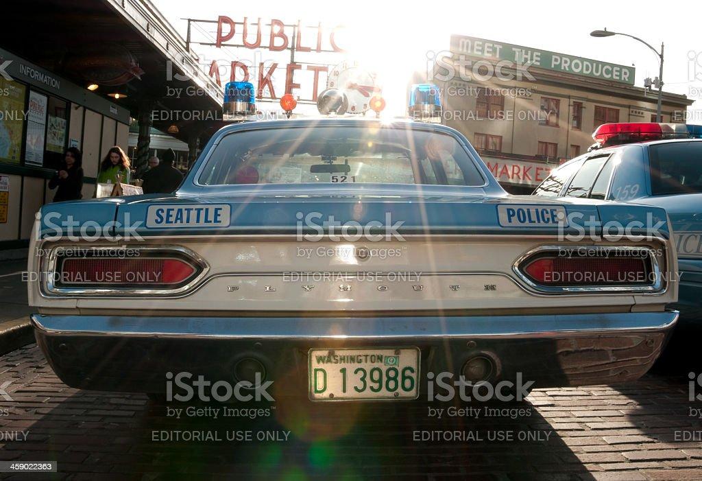 1970's Plymouth Satellite Police car stock photo